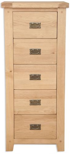 Melbourne Natural 5 Drawer Tall  Chest
